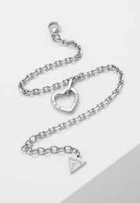Guess - HEARTED CHAIN - Bransoletka - silver-coloured - 4