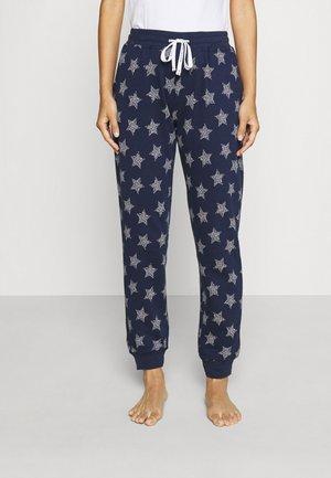 PANTS - Pyjama bottoms - blue dark allover