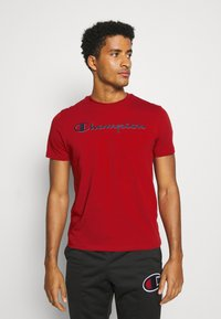 Champion - LEGACY CREWNECK - T-shirt imprimé - dark red - 0