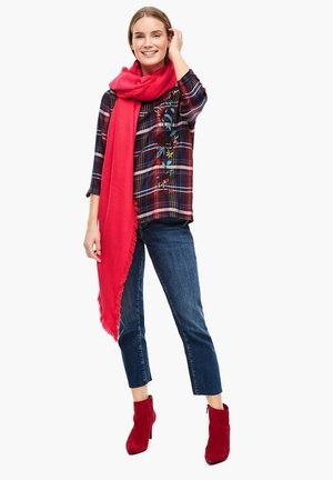 MIT JACQUARD-MUSTER - Schal - red