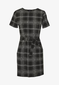 New Look Petite - CHECK BELTED TUNIC - Jumper dress - black - 3