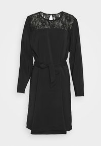 Vila - VISISA TIE BELT DRESS - Day dress - black - 3