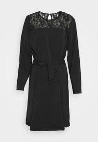 VISISA TIE BELT DRESS - Day dress - black