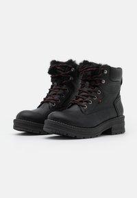 Coolway - HANZEL - Platform ankle boots - black - 2