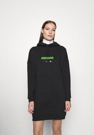 CENSORED HOODIE DRESS - Kjole - black