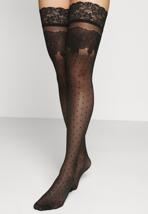 ST NOIR ALL OVER DECOR - Over-the-knee socks - black