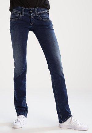 NEWSWENFANI - Straight leg jeans - dark-blue denim