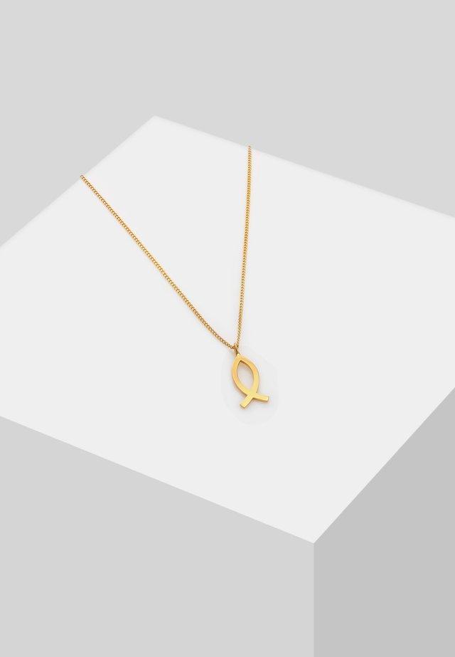 KINDER FISCH SYMBOL CHRISTLICH RELIGION  - Necklace - gold-coloured