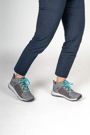 EXPLORE MID WP - Hiking shoes - steel grey/bright turquoise