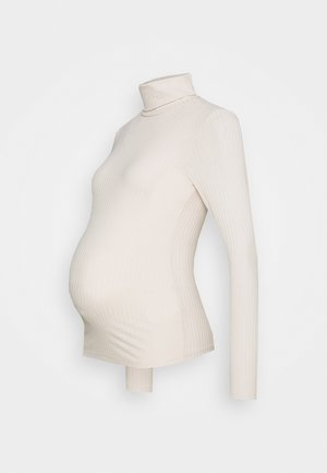 ROLL NECK - Long sleeved top - stone
