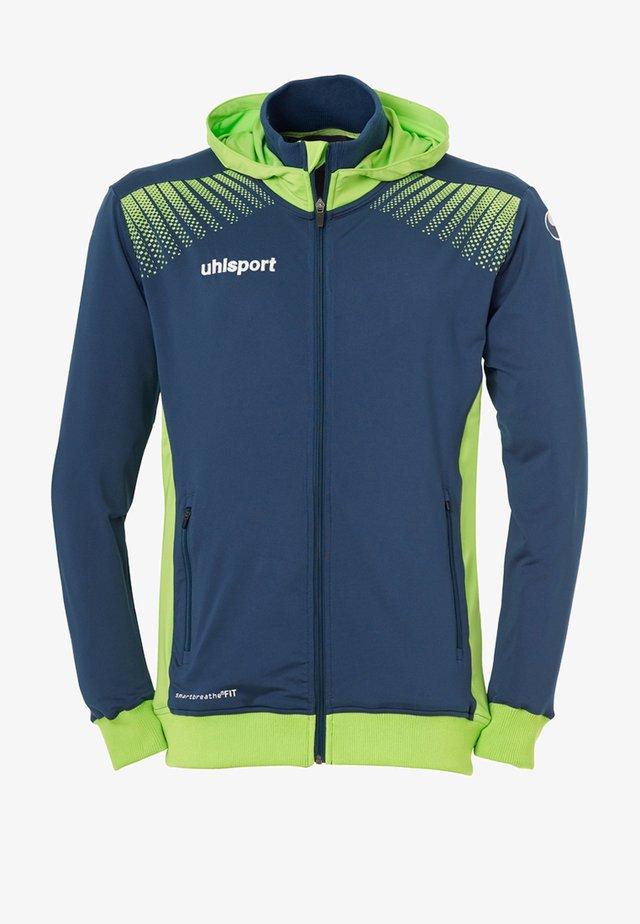 GOAL TEC - Training jacket - neon green, dark blue
