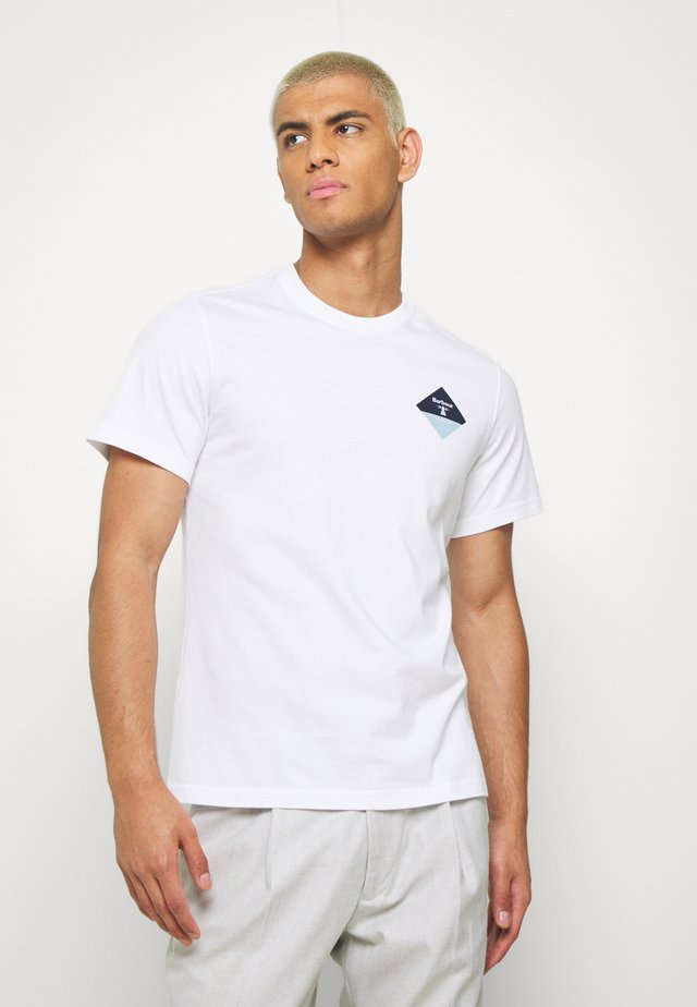 SMALL DIAMOND - T-shirt imprimé - bright white