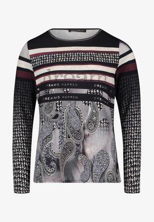 MIT AUFDRUCK - Long sleeved top - black/darkred