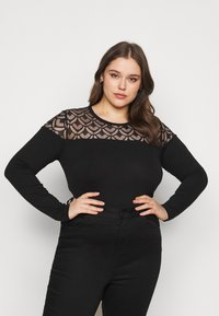 Anna Field Curvy - Long sleeved top - black - 0