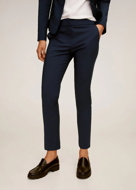 Mango - COFI7-N - Spodnie materiałowe - bleu marine foncé