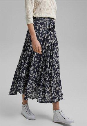 ALLOVER PRINTED  - Maxi skirt - navy