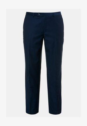 Suit trousers - stahlblau
