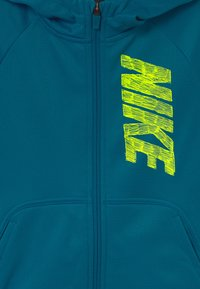 Nike Performance - THERMA HOODIE - Training jacket - green abyss/volt - 2