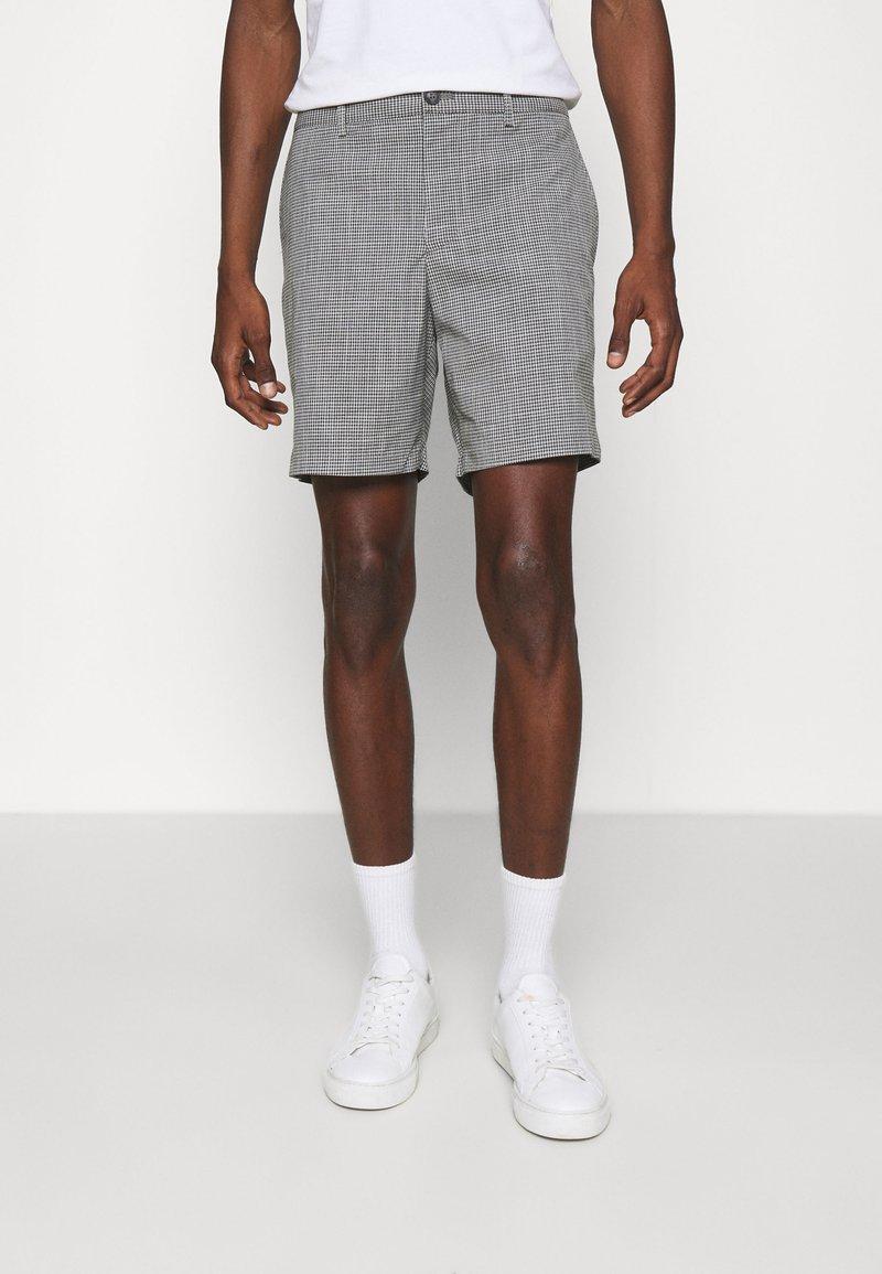 Club Monaco - BAXTER MICRO CHECK - Shorts - grey
