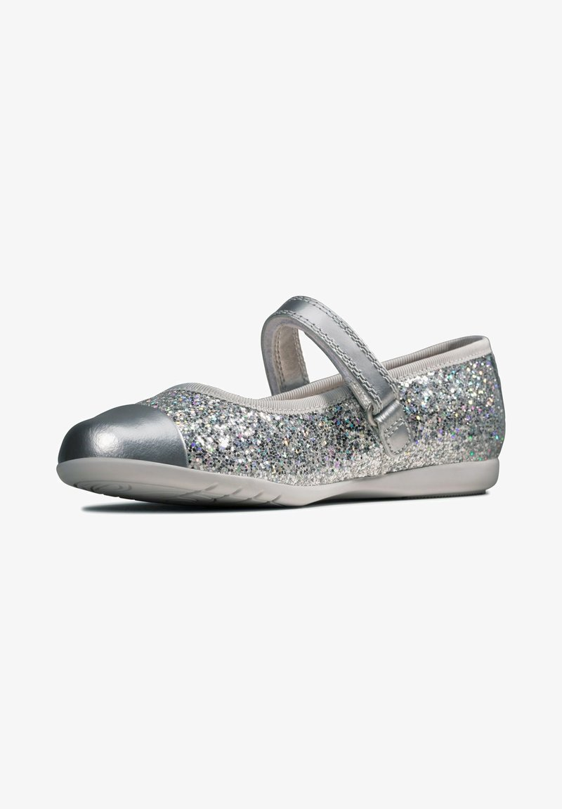 Clarks - DANCE TAP TODDLER - Ankle strap ballet pumps - silber / synthetik