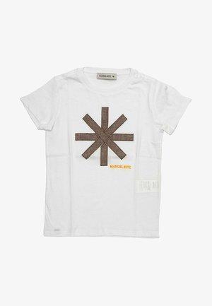 CON LOGO APPLICATO  - T-shirt print - bianco