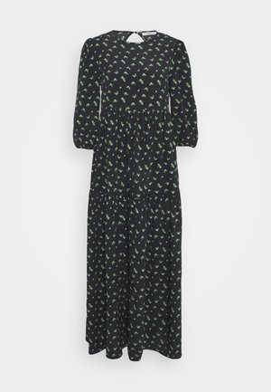 DRESS ROSEBUD FLORAL MAXI - Day dress - black