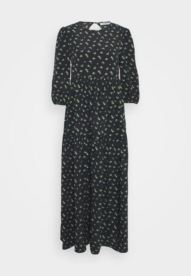 DRESS ROSEBUD FLORAL MAXI - Korte jurk - black