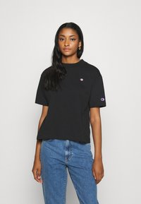 Champion Reverse Weave - Print T-shirt - black - 0