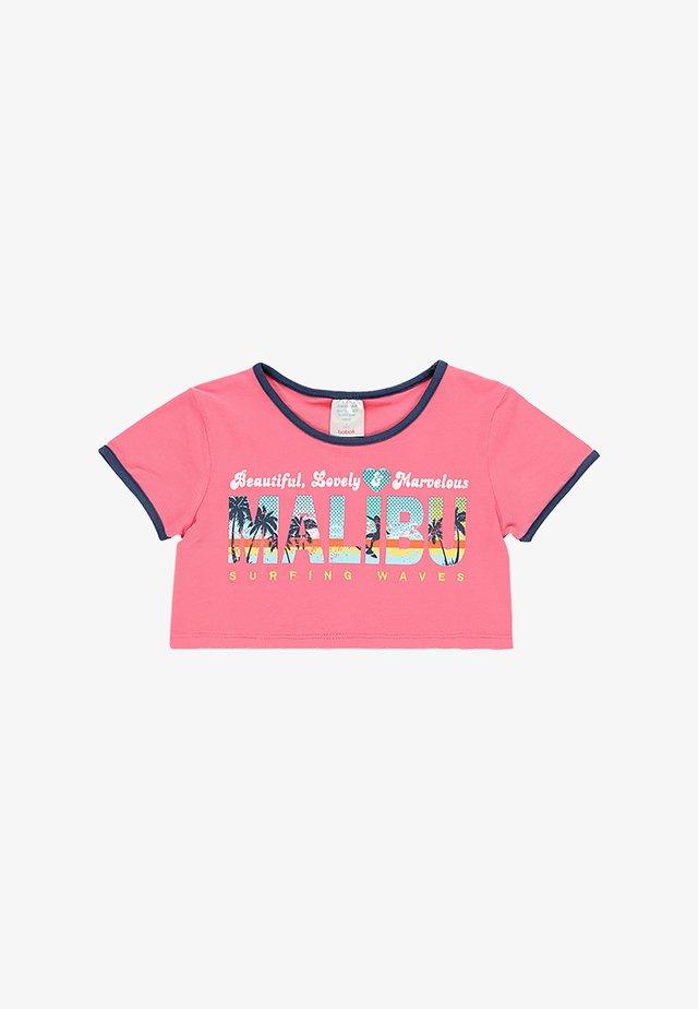 T-shirt imprimé - fuchsia