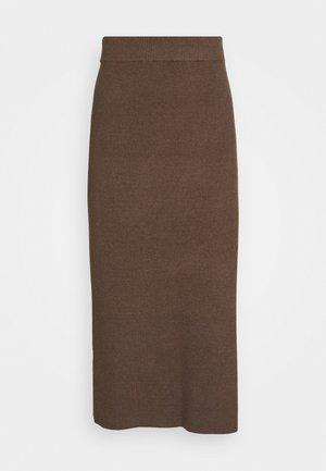 CELESTINA SKIRT - Pencil skirt - chocolate chip melange