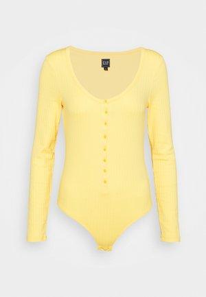 HENLEY BODYSUIT - Long sleeved top - lemon