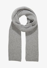 Johnstons of Elgin - RIBBED CASHMERE SCARF - Scarf - grey - 2