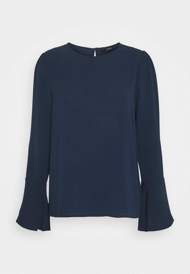 VMSAGA BELL SLEEVE - Bluzka z długim rękawem - navy blazer