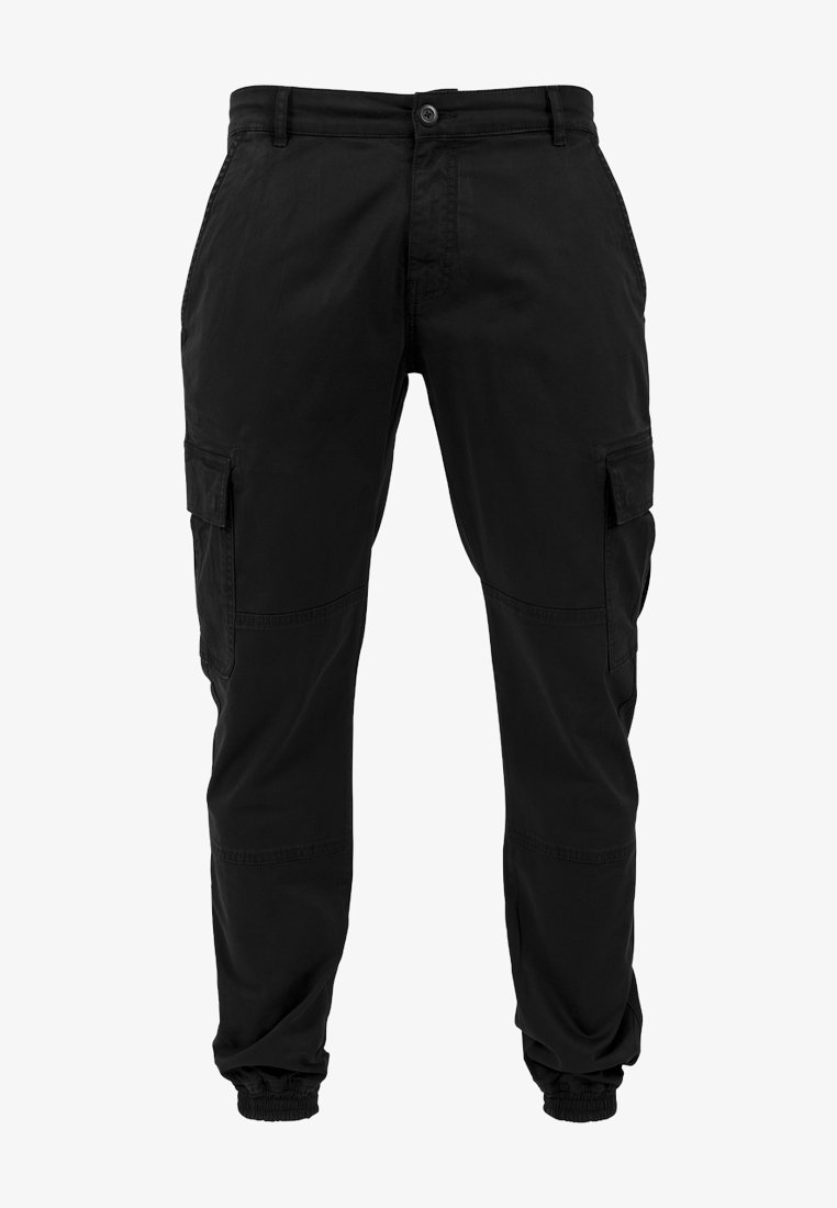Urban Classics - WASHED CARGO  - Cargo trousers - black