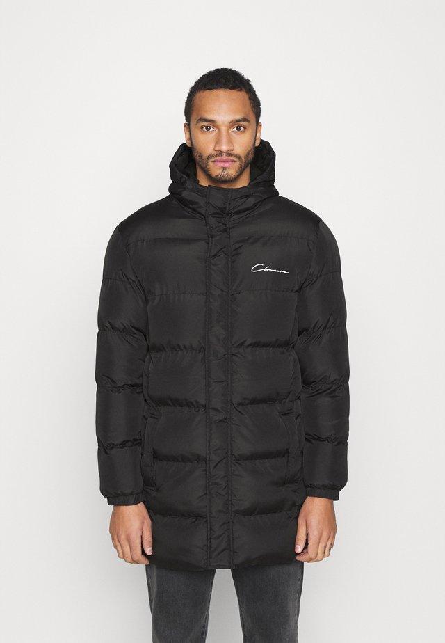 LONG PUFFER - Winter coat - black shine
