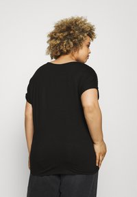 CAPSULE by Simply Be - SPARKLE TRIM RELAXED - Print T-shirt - black - 2