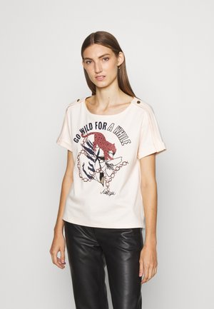 Print T-shirt - panna cotta