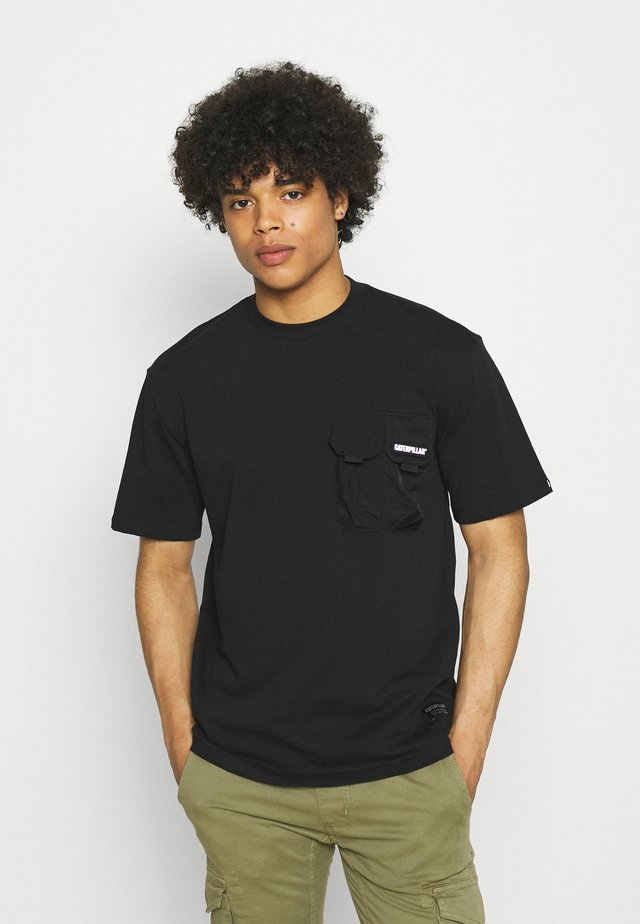 DOUBLE POCKET TEE - T-Shirt basic - black