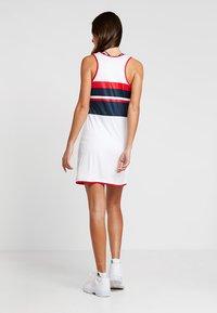 Fila - DRESS DORO - Jersey dress - white/blue/red - 2