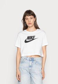 Nike Sportswear - TEE - T-shirts med print - white/black - 0