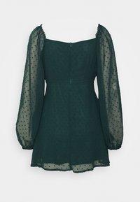 Missguided Petite - MILKMAID SKATER DRESS DOBBY - Kjole - dark green - 1