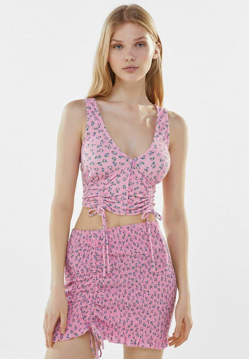 Bershka - Mini skirt - pink