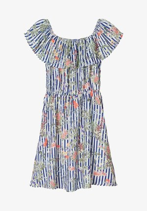 NAME IT OFF-SHOULDER KLEID BLUMENPRINT - Day dress - true navy