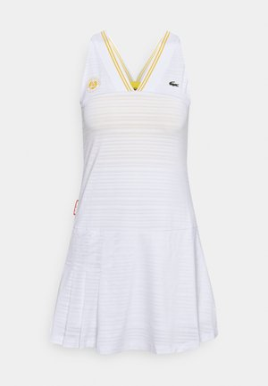 TENNIS DRESS - Sports dress - white/sunny pineapple