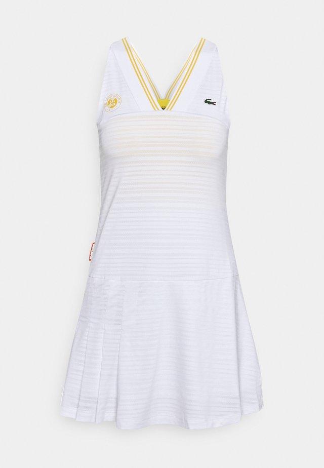 TENNIS DRESS - Sports dress - white/sunny pineapple
