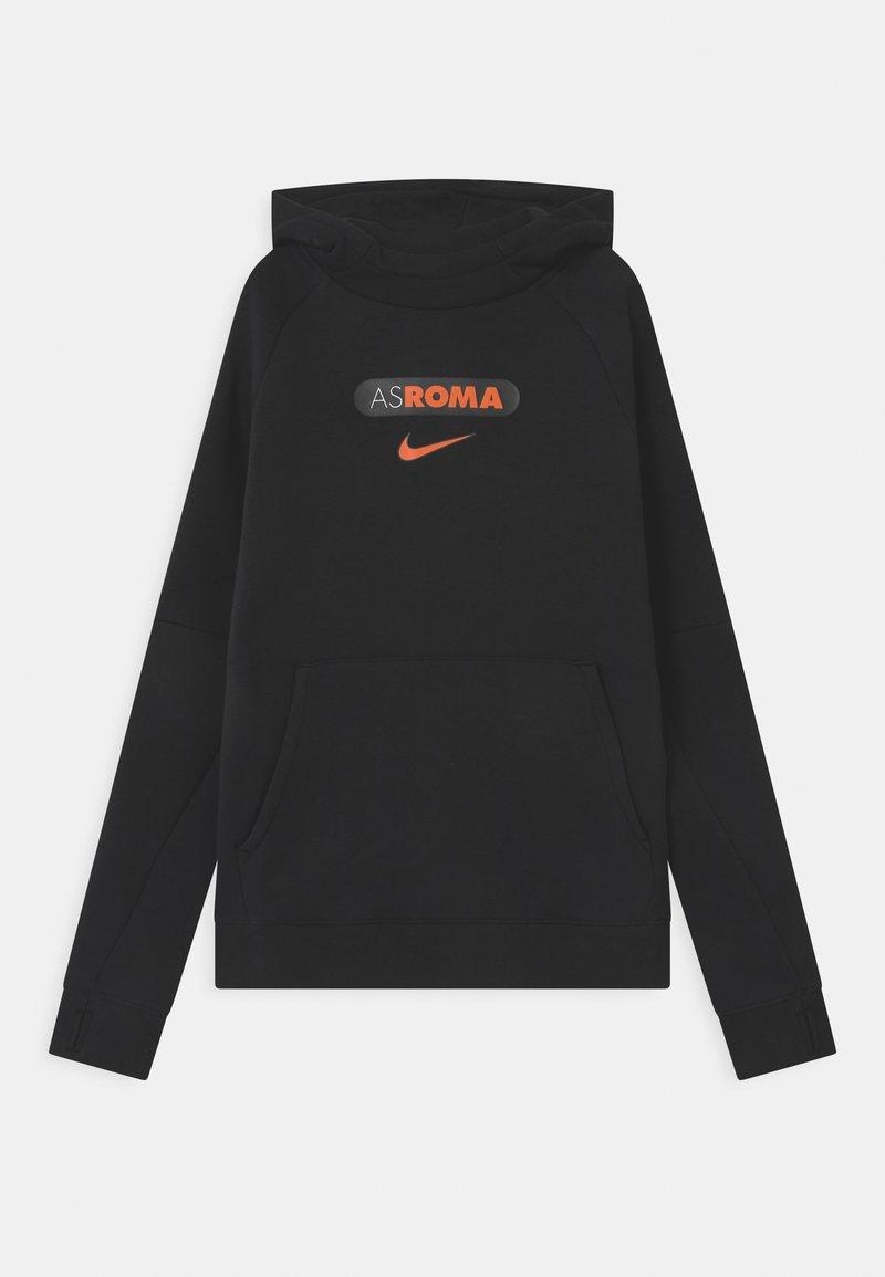 Nike Performance - AS ROM HOOD UNISEX - Club wear - black/safety orange
