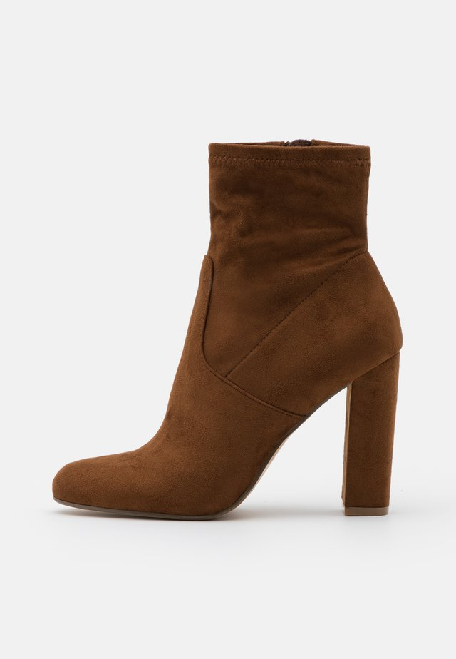EDITT - High heeled ankle boots - brown