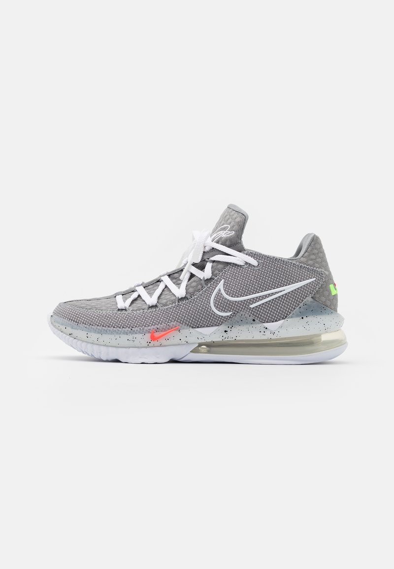 Nike Performance - LEBRON XVII LOW - Basketballsko - particle grey/white/light smoke grey/black/multicolor