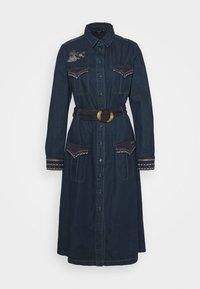 Desigual - VEST CASTIEL - Denim dress - denim medium - 5