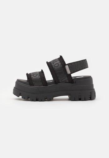 VEGAN ASPHA  - Platform sandals - black